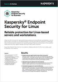 Kaspersky Endpoint Security for Linux – صفحة البيانات